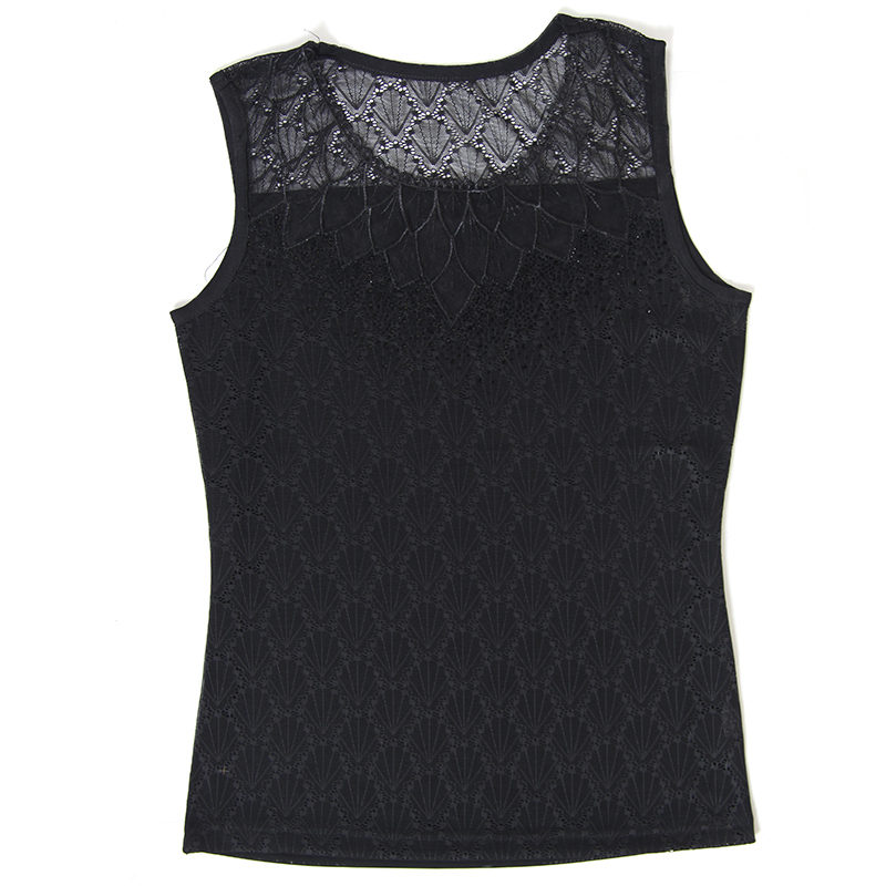 d10f5e09699 Dingaozlz Summer Women clothing Blusas Femininas Fashion Sleeveless shirt  Casual diamond Lace blouse Tops-in Blouses   Shirts from Women s Clothing  on ...