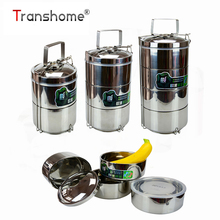 Multilayer Stainless Steel Dinnerware Set Insulated Food Box Three-storey Double-layer bento Dinning box Kitchen Accessories