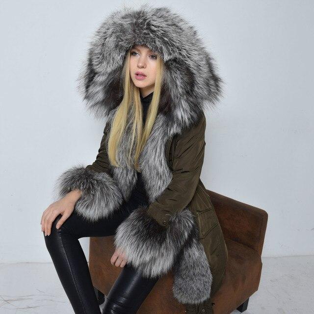 Silver Fox Femmes Hiver Marque Super Nouvelle De Manteau Fourrure 4Ox5dAwq