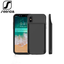 Portable Charging Pack iphone X 3600mAh 6000mAh Battery Power Bank for iphone X Battery Charger Case with Power Bank Case Gift(China)