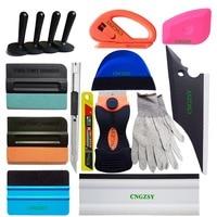 Carbon Fiber Foil Vinyl Scraper Magnet Holder Cutter Knife Gloves Window Tint Tools Car Glass Cleaning Tool Brush Hand Tools K77