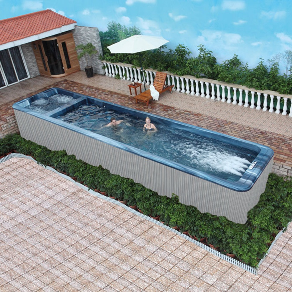 Jacuzzi Endless Pool Us 48636 22 8kw Villa Luxury House Resort Seaside Endless Swimming Ultraviolet Radiation Integrated Molding Swimming Pool In Spa Tubs From Home