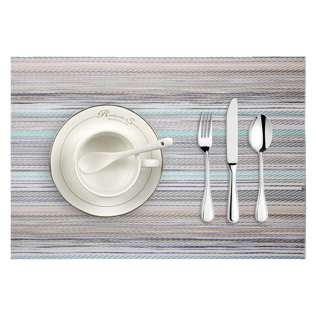 Placemat Christmas Placemat Woven Non-slip PVC Insulation  2