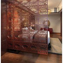 Старинный деревянный настенный креативный полый резной щит для комнат, подвесной экран, перегородка для комнаты, современный подвесной разделитель для комнаты
