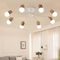 Japanese retro Wood LED chandelier Ceiling lamps Lights for Living Room kitchen Lustres De Sala Plafon luminarie light fixtures