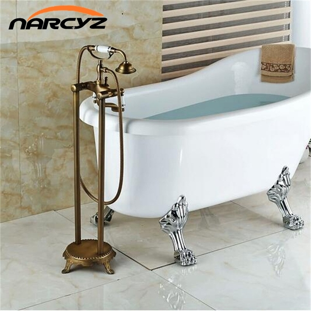 Bathroom Antique Floor Stand Faucet Telephone Type Bath And Shower ...