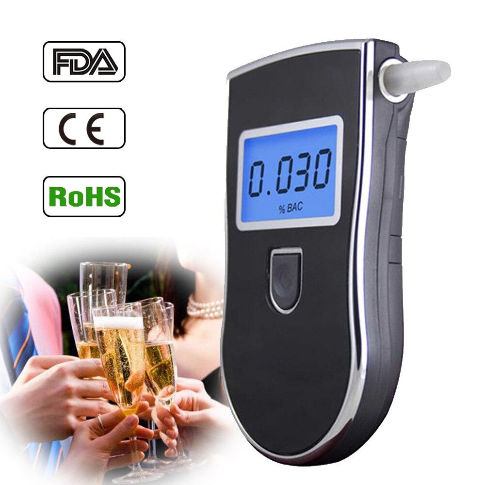 8 pcs/lot vente chaude professionnel Police numérique souffle alcool testeur alcootest livraison directe gratuite