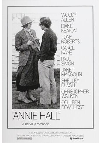 ANNIE HALL movie poster diane KEATON woody ALLEN funny QUIRKY ironic SILK POSTER Decorative painting 24x36inch image
