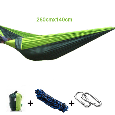 1 pcs Parachute Double Hammock Garden Outdoor Camping Travel Furniture Survival Hammock Swing Sleeping Bed