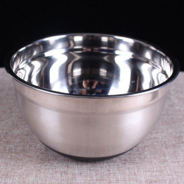 Genial 9.4 Inch Heavy Duty Stainless Steel Mixing Bowls Flat Base / Prep Bowl  Kitchen Tools