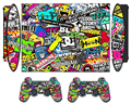 Bombing Design Vinyl Skin Sticker Protector for Sony PS3 Super Slim 4000 and 2 Controller Skins Stickers