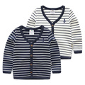 Baby stripe cardigan 2017 spring male children's child clothing child casual outerwear