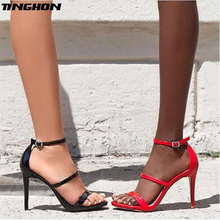 TINGHON Summer Fashion Womens Sandals Pointed Open Toe Gladiator Thin High Heels Sexy Ladies Shoe Sandalias Size 35-40