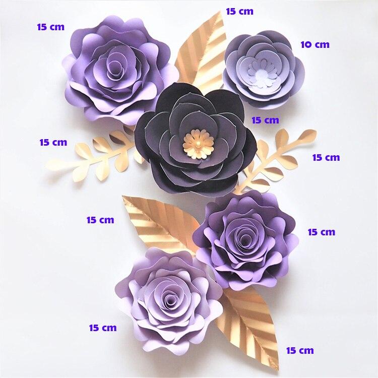 144PCS PAPER ARTIFICIAL FLOWERS HANDMADE DIY CARD CRAFTS EMBELLISHMENT OPULENT