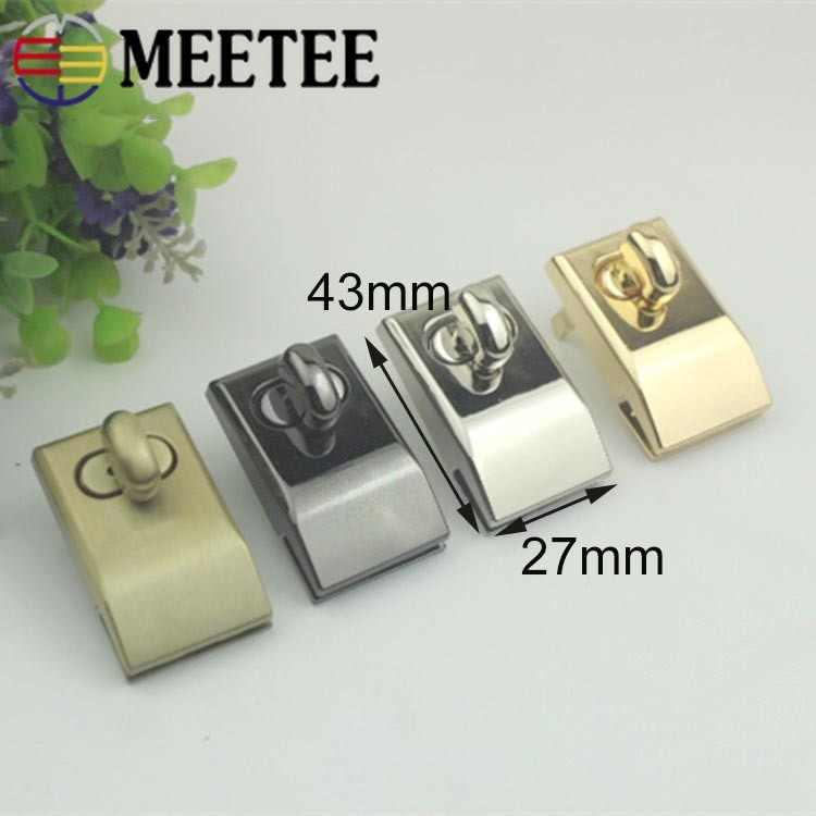 2 piezas Meetee bolsa de Metal de encaje bolso cierres cierre hebilla DIY bolso giro vuelta cerraduras accesorios de hebillas