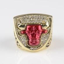 1993 Bulls Campeonato Replica Anillo para los amantes 100% chapado en oro los anillos de campeón whosale el envío libre