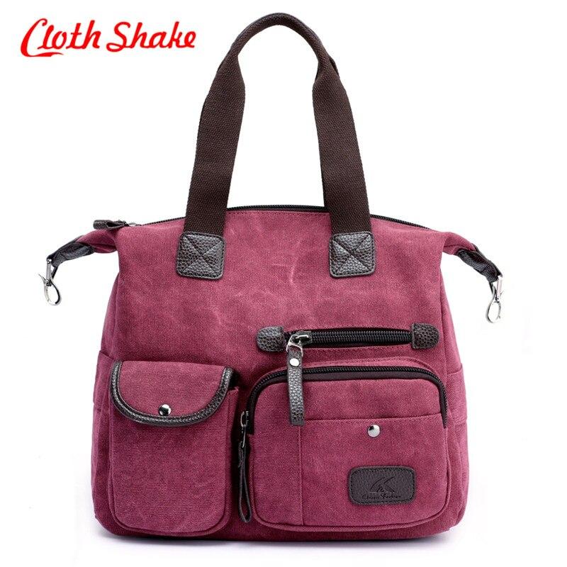 купить 2018 Famous New Style Big Tote Canvas Bag Women Handbags Messenger Bags Casual Shoulder Bags Designer Handbags Bolsa Feminina недорого