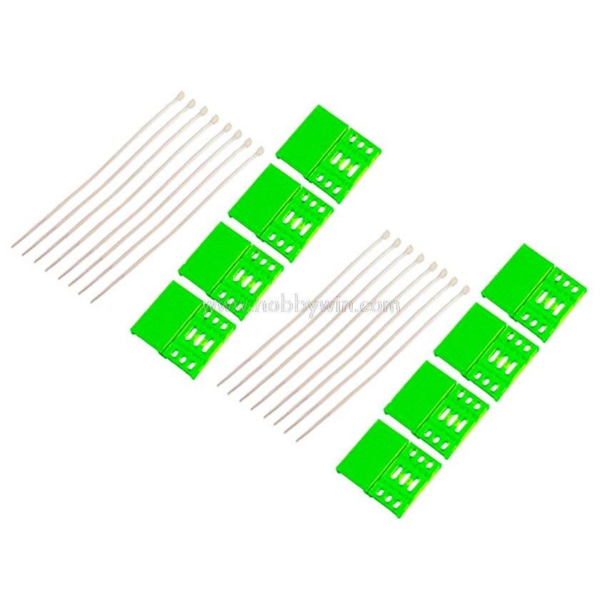 RJX часть RJX1165 нейлоновая Безопасная крышка д 38 мм * Ш 18 мм * в 4,5 мм зеленые наборы X2 для FPV ESC 30A или аналогичного размера