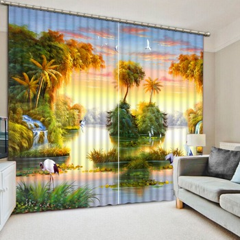 Beautiful Landscape Curtains For The Bedroom Living room 3D Curtains Blackout Kitchen Curtain 3D Drapes
