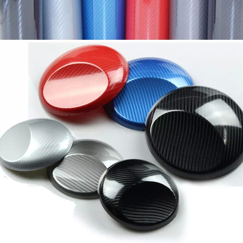 Super Glossy Silver red grey blue black 6D Carbon Fiber Vinyl 6D Carbon Fibre Wrap 6D Carbon Fiber Film For Vehicle Motorcycle universal carbon fiber car keyhole decoration ring for volkswagen series silver black blue
