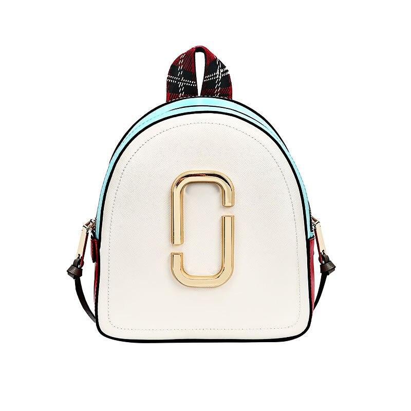 Women's Backpack 2018 New Contrast Colorblock Backpack Mini Shoulder Bag Car Line Casual Joker Camera Backpack
