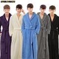 Nuevos Hombres de la Llegada del Invierno Caliente de Espesor de Lujo Larga Amantes Albornoz Kimono Jacquard Albornoz Bata Masculina Sólido para Las Mujeres túnicas