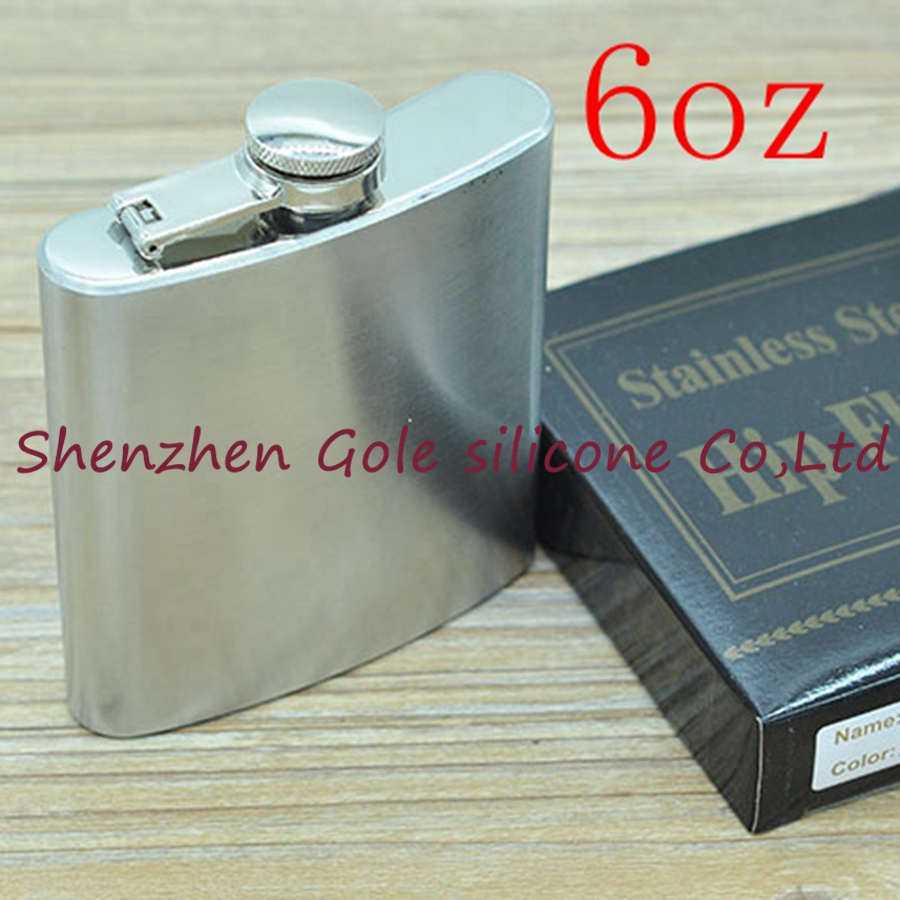 200pcs 6oz Stainless Steel Pocket Flask Russian Hip Flask Male Small Portable Mini Shot  ...
