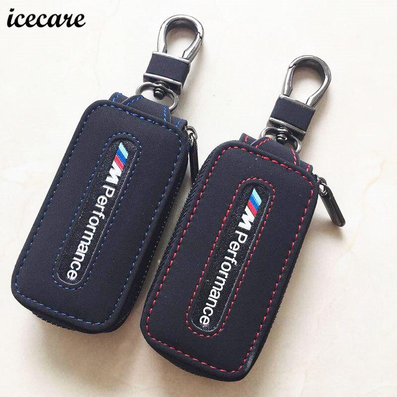Genuine Leather Car Key Case KeyChain Cover for BMW E90 E60 E70 E87 3 5 6 Series M3 M5 X1 X5 X6 Z4 m performance 1 2 accessories цена