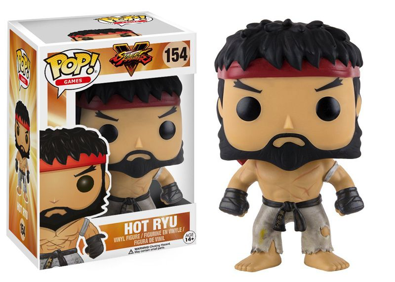 Exclusive Funko pop Official Games Street Fighter - Hot Ryu Vinyl Figure Collectible Model Toy with Original Box  funko pop games illidan 14 pvc action figure collectible model toy 4 10cm kt2242