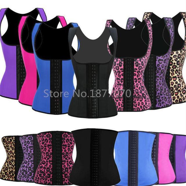 28f4b944bd9 Deportiva Sport Latex Waist Cincher Trainers Workout Vest Leopard Ann Chery  Style Waist Training Corsets Wholesale Price