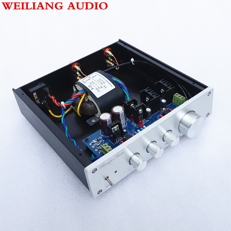 Weiliang audio Breeze audio Pre amplifier F1 op amp 49720NA or 49720HA 115V 230V