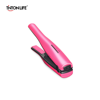 TINTON LIFE Mini Portable USB Charger Hair Straightener Curler Fast Heating Ceramic Hair Curler Curling Straightener Irons