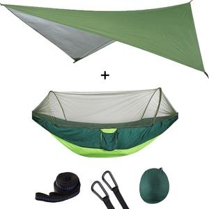 Image 5 - 屋外自動クイックオープン蚊帳ハンモックテント防水キャノピーオーニングセットハンモックポータブルポップアップ
