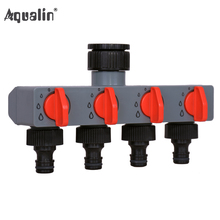 4 Way Water Distributor Tap Adapter ABS Plastic Connector Hose Splitters for Hose Tube Water Faucet#27208 cheap Aqualin Watering Kits