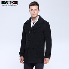 VSD laine mélanges costume Design laine manteau mâle décontracté casual Trench Slim Fit Double boutonnage bureau costume veste manteau pour hommes 3018(China)