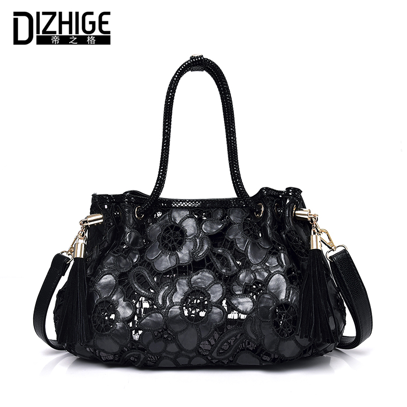 DIZHIGE Brand Fashion Luxury Handbags Women Bags Designer Embroide PU Leather Bags Women High Quality Shoulder Bags 2018 New Sac new national embroidery bags high quality women fashion shoulder