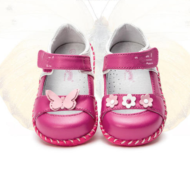 cute flower 1pair Girl Children Orthopedic Genuine  Leather Shoes,Baby single shoes, Leisure Kids Shoes