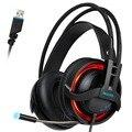 R2 7.1 canais gaming headset sades fones de ouvido estéreo fones de ouvido com Mic Respiração Luzes Led Plug USB para PC Gamer 2016 nova