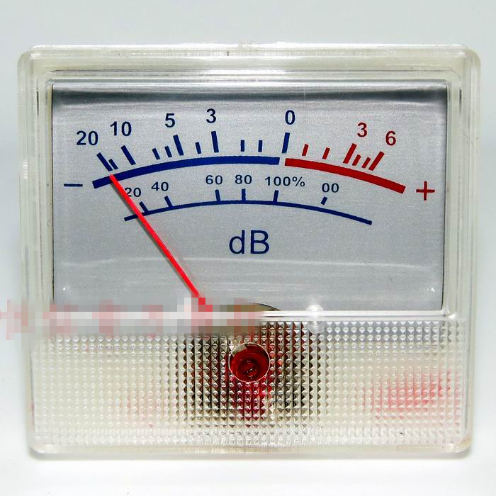 все цены на Scale Pervious to Light Rectangular White Panel VU Meter 0-500uA 650 Ohm  -20 ~ +6dB Power Amplifier Audio онлайн
