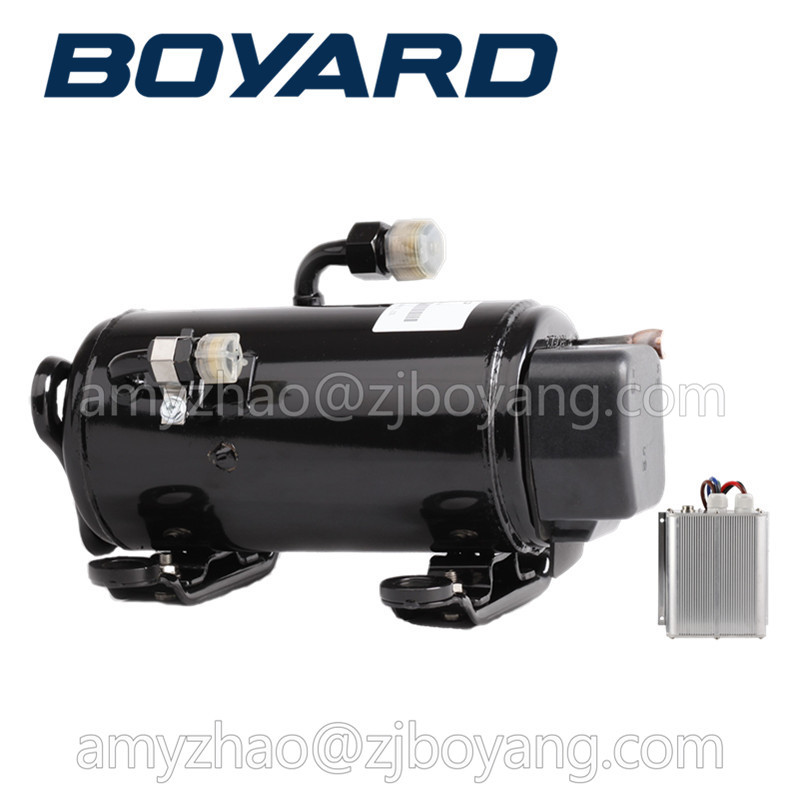 HB075Z12 8J R134a boyard r134a dc 12v 24v electric ac compressor for Cockpit sleep air conditioning