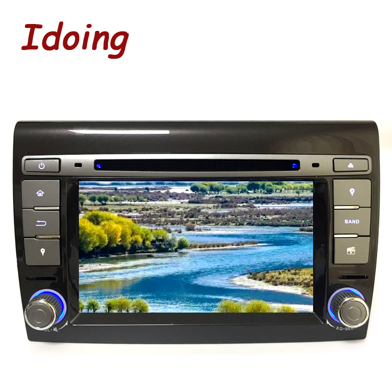 Idoing Android 7.1 2G+16G 4Core Steering Wheel 2 Din For Fiat Bravo Car Capacitive Video DVD Multimedia Player Fast Boot Wifi