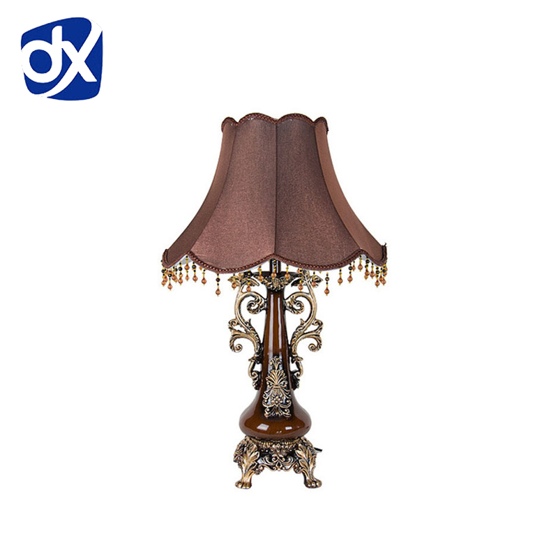 Modern Bed Room Table Lamp Luxurious Fabric Lampshade Living Decoration Abajur For Bedroom