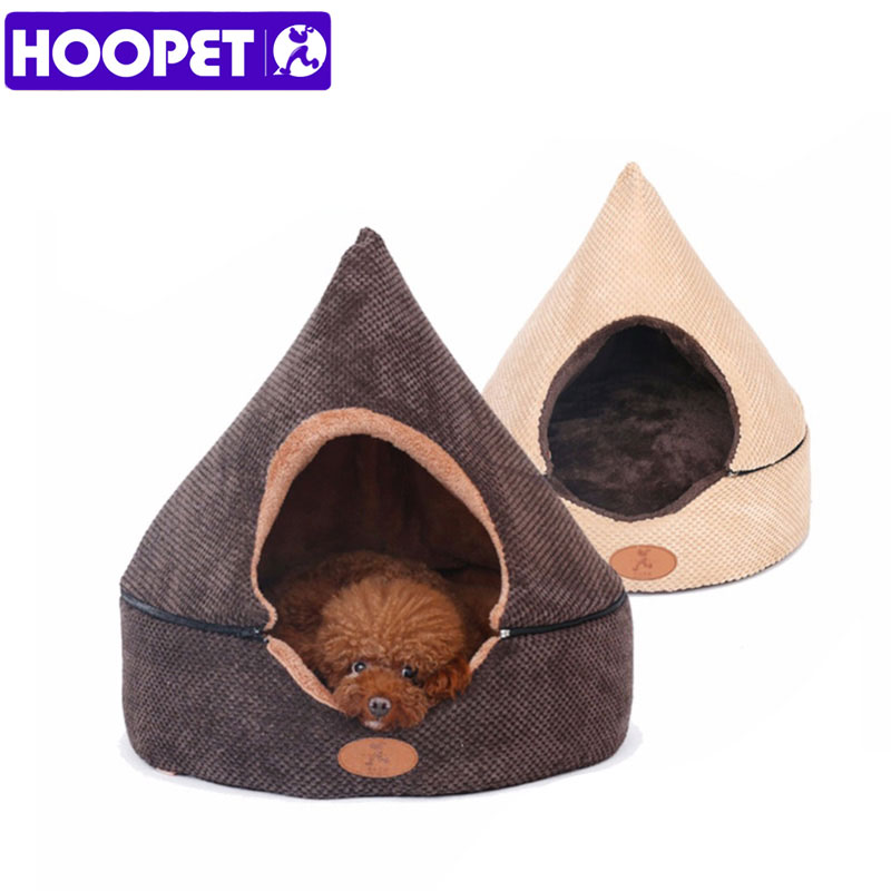 HOOPET Pet Dog Bed Cat Tent Dog House All Seasons Bed for dogs Dirt resistant Soft Yurt Bed with Double Sided Washable Cushion in Houses Kennels Pens from Home Garden