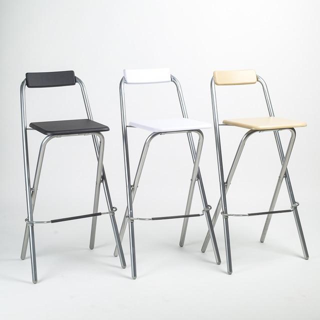 Delicieux ECDAILY Folding Minimalist Bar Stool Bar Stool Fishing Chair Backrest High  Chair Bar Chair Steel Folding