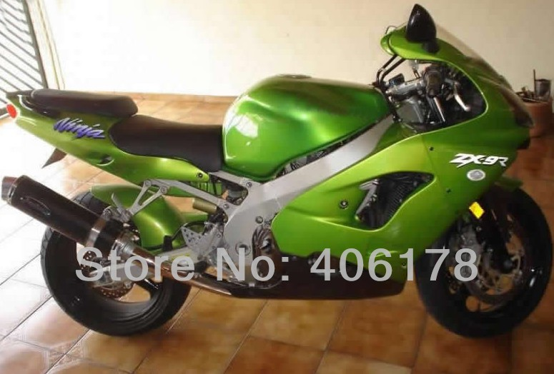Горячие продаж,потеряла цену на ZX 9r с 00 01 мото обтекатель комплект для Kawasaki ниндзя ZX9R 2000 2001 зеленый обтекатель комплект кузова