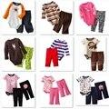Bodysuit Calças do bebê Terno roupas de bebê menino definir roupas de menina bebe macacão calças bodysuits-nascidos