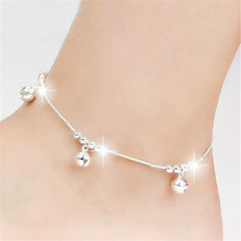 Sexy ankle bracelet silver plated jewelry chains foot barefoot sandals foot jewelry anklets for women sandals bell anklet chain