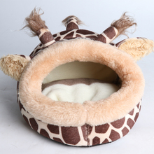 Plush Soft cat Small dog House Bed Cage for dogs Mini Animal Mice Rat Nest Hamster Pet Products