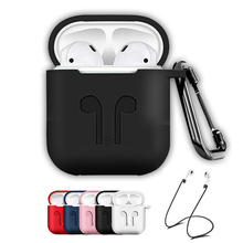 Soft Silicone Case For Apple AirPods Shockproof Earphone Protective Cover Waterproof Case on for AirPods Accessories Air Pods