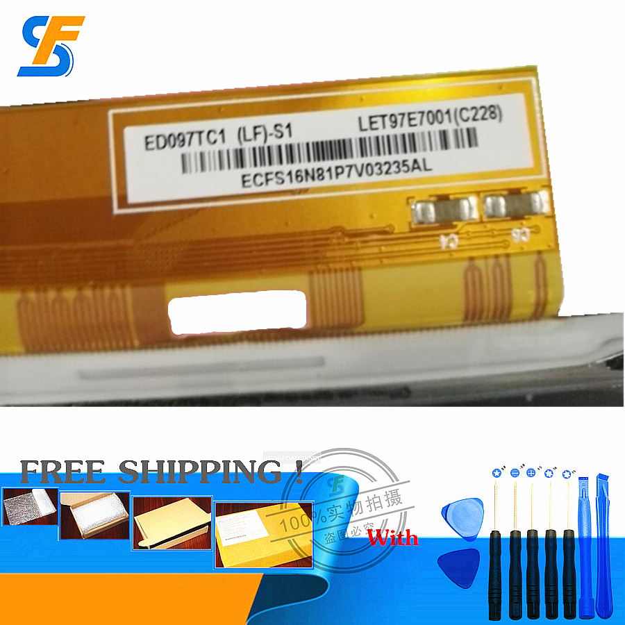 9.7-inch E-ink LCD Screen for ED097TC1(LF)-S1 E-book screens LET97E7001 E-ink screens free shipping od104sl4 lf od104sl4 lcd display screens